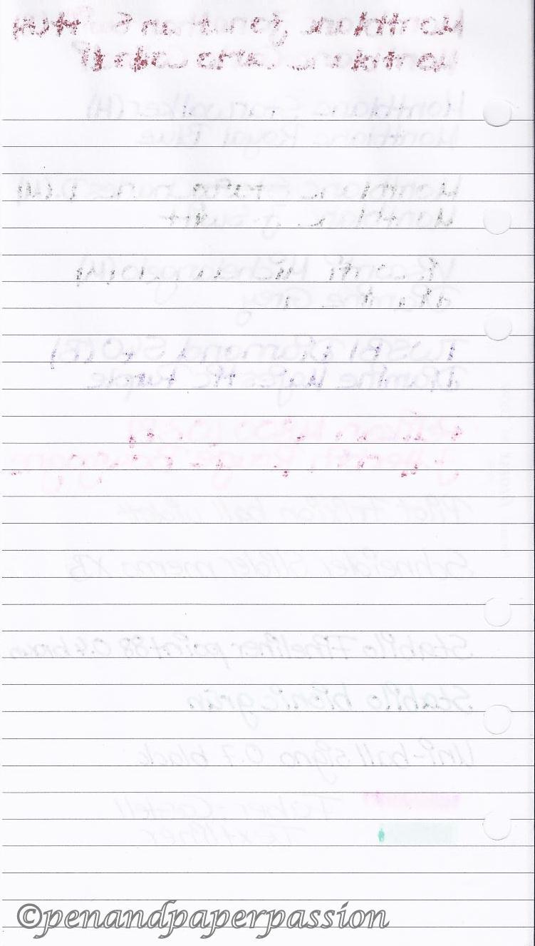 Filofax liniertes Notizpapier hinten