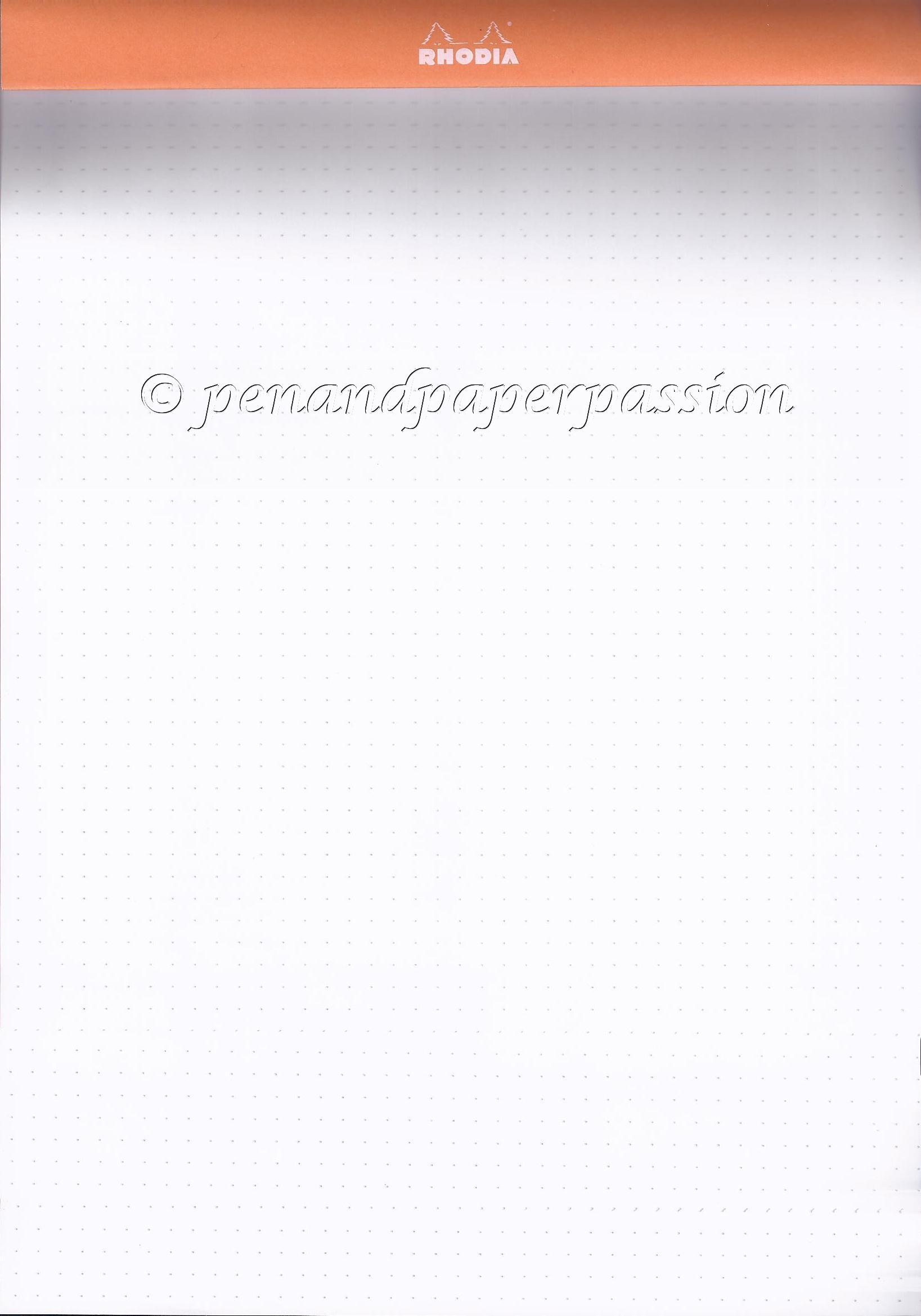 Rhodia DotPad Umschlag umgeklappt