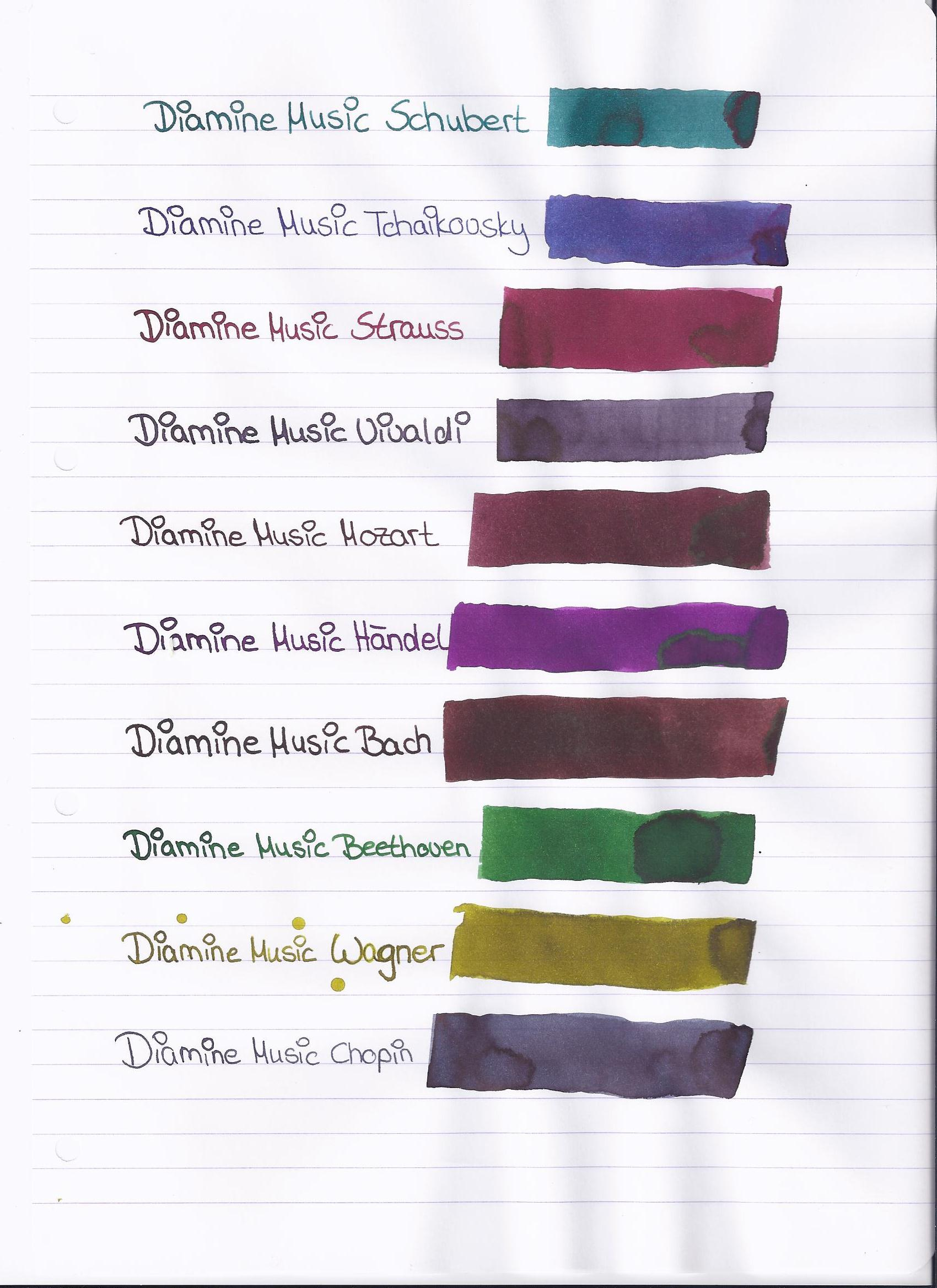 Diamine Music Set Scan
