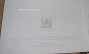 Paperscreen Book Informationen hinten