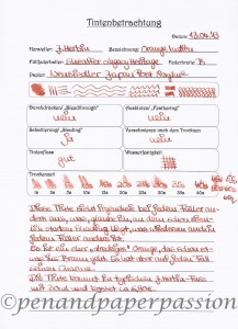 J. Herbin Orange Indien Scan