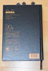 Rhodia Feste Kladde Einband hinten 1